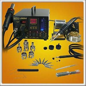 Aoyue 968a 4 In 1 Digital Hot Air Rework And Soldering Station