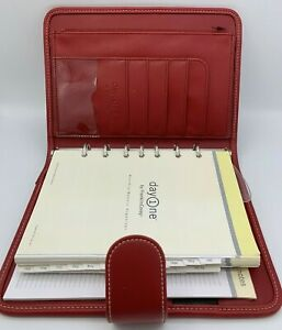 New Red Franklin Covey Day One 1 Planner Business Organizer Faux Leather