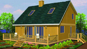 Pocono 28 X 36 Customizable Shell Kit Home Delivered Ready To Build