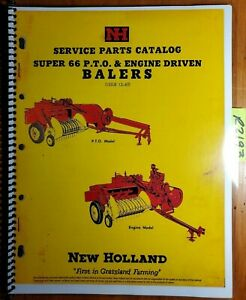 New Holland S66 Super 66 Pto Engine Driven Baler Service Parts Catalog Manual