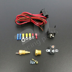 3 8 185 200 Electric Engine Fan Thermostat Temperature Relay Switch Sensor Kit