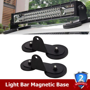 Universal Magnetic Base Mount Bracket Strong Holder Roof Led Light Bar Car Atv