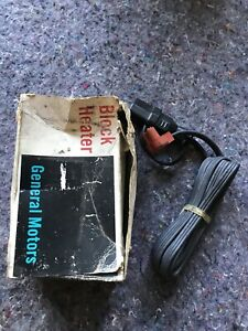 Nos Gm Chevrolet Buick Olds Pontiac Cadillac Accessory Engine Block Heater Cord
