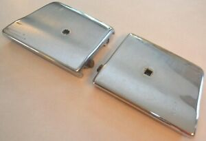 1961 1963 Ford Thunderbird Front Bumper Left Right Chrome End Caps Oem 1962