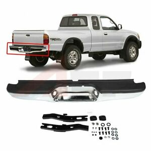 New To1102215 Rear Chromed Bumper Assembly For Toyota Tacoma 1995 1996 1997 2004