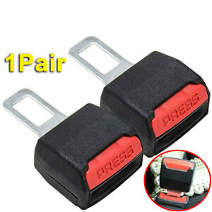 2pc Car Safety Seat Belt Buckle Extension Extender Clip Alarm Stopper Universal
