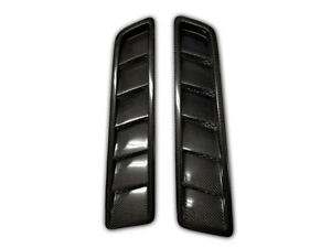 Carbon Fiber Hood Vents Oe Style For 2013 2014 Ford Mustang Gt Set Of 2