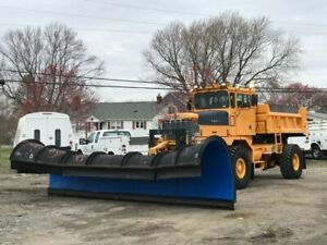 20 Poly Snow Plow Oshkosh Hydraulic Metal Dump Truck Pusher Airport 4x4 Rubber