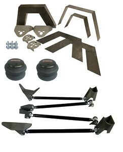 Rear Universal Weld On Kit 8 Frame Notch Triangulated 4 Link Airmaxxx 2600 Bag