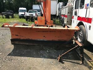 10 Monroe Dump Truck Steel Snow Plow Ford F800 Mount Hydraulic Angle Equipment