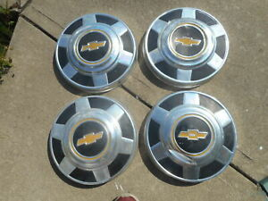 Set 4 Chevy Pickup Truck Dog Dish Hubcaps Caps 16 1973 To 1987 3 4 Ton 12 Inch