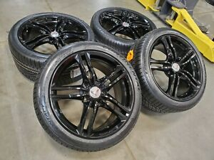 18 19 Chevy Corvette C7 Oem Black Wheels Rims Tires 5726 5730 2018 2019 New