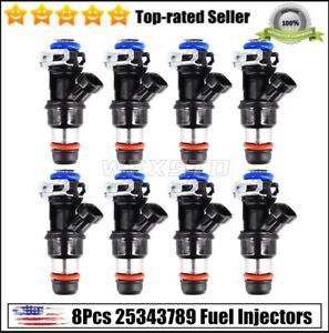 8pc Fuel Injectors 25343789 Fits For Chevy Gmc Silverado Suburban 5 3 6 0 Delphi