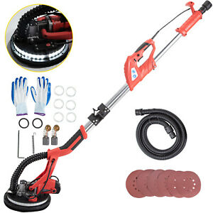 Drywall Sander 750w Wall Grinding Foldable 5 Speeds Vacuum System W Led Strip