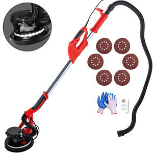 Drywall Sander 750w Wall Grinding Extendable 5 Speeds Vacuum System Led Strip