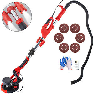 Drywall Sander 750w Wall Grinding Foldable 5 Speed Vacuum System W Led Light