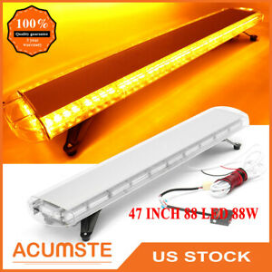 47 88 Led Strobe Light Bar Amber Emergency Beacon Warn Flash Tow Truck Response