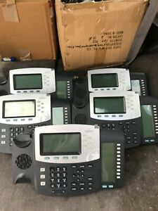 Lot Of 5 Digium D70 Ip Black Office Phones With Stand No Handset 1teld070lf