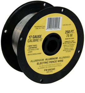 Fi shock Fw 00018d 250 feet 17 Gauge Spool Aluminum Wire