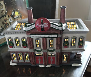 Dept 56 Snow Village ~ Coca Cola Bottling Plant ~ Illuminated Building {B}