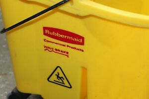 used rubbermaid Commercial Products 35 Qt Wavebrake Mop Bucket Wringer D