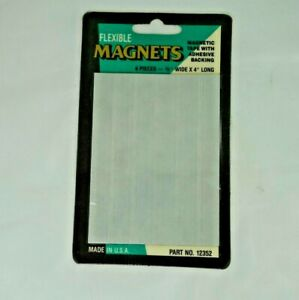 Flexible Magnets Magnetic Tape 6 Pieces 1 2 X 4 Long With Adhesive Backing