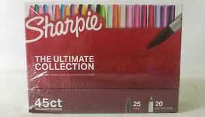 Sharpie The Ultimate Collection Fine Ultra Fine Tip Permanent Markers 45 Count