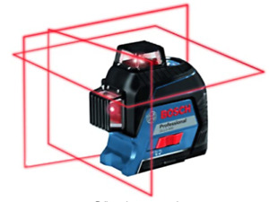 Bosch Gll3 300 360 Degree 200ft Three Plane Self Leveling Line Laser Level New