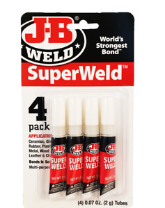 Jb Weld Superweld Super Glue 2g Tube 4 Pack World s Strongest Bond