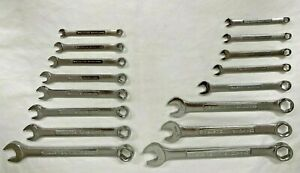 Craftsman Industrial 16pc 6 point Combo Wrench Set 48987 Made In Usa