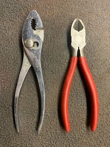 Pair Mac Tools Usa Cutter Snippers Wire Snips Dikes Red M436g Mac Pliers P26a
