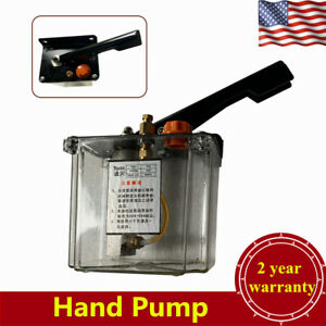 Manual Lubricating Oil Pump Hand Lubrication Oil Pump 600cc Right Hand Press Usa