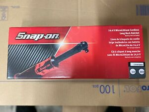 Snap On 3 8 14 4v Microlithium Cordless Long Neck Ratchet Only Ctr767gmdb