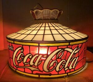 Vintage Drink Coca-Cola Hanging Pendant Lamp Red Tulip Design