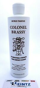 Colonel Brassy Hard Surface Cleaner polish Motorcycle Boat Atv Rv Metal 16oz