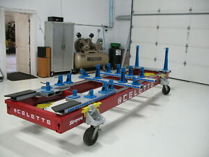 Used Celette Sevenne Dedicated Jig Bench With Mz System Pulling Arm Beams