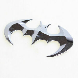 Fashion 3d Metal Batman Silver Car Stickers Badge Graphics Decal Car Accessories