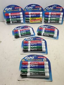 Expo 80174 Dry Erase Markers 4 Assorted Count Lot Of 7 Packs