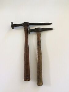 Lot Of 2 Auto Body Hammers Round Face 1 Rare Stanley 1 No Name Hand Tools