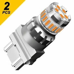 Auxito 2x 3157 3156 23 Led Amber Turn Signal Drl Side Marker Light Bulbs 6000k