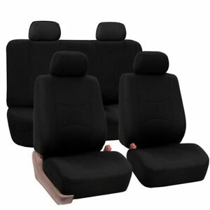 9pcs Universal Car Seat Covers Front rear Seat Back Head Rest Protector Set Us