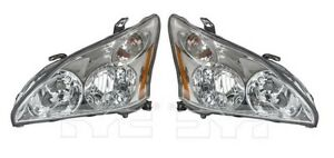 For 2004 2006 Lexus Rx330 Pair Driver And Passenger Side Headlight Assembly Capa
