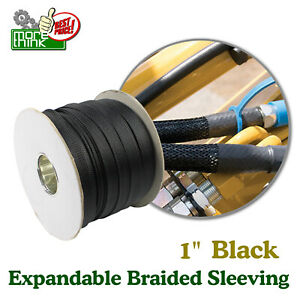1 Expandable Braided Cable Sleeve Protector Wire Cover Sheath Mesh Tube Lot