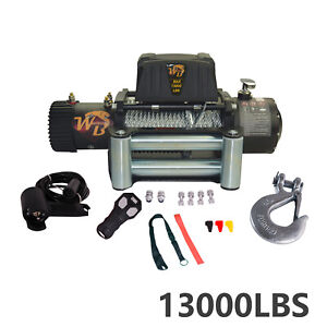 13000lb Electric Recovery Winch Wireless W Roller Fairlead For Truck Off Road