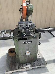 Scotchman 14 Manual Cold Saw Cpo 350 Ht With 10 Roller Table And 6 Cut Stop