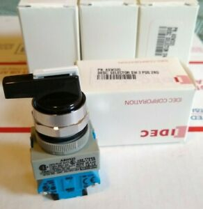 New Idec Asw320 Rotary Switch 3 Position 2 Pole 45 10a 600v Tw