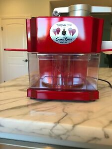 Waring Pro Scm100 Snow Cone Maker With Accessories In Box With Manual Used Once
