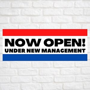 Now Open Under New Management Advertising Vinyl Banner Flag Sign Many Sizes Usa