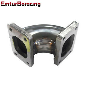 Turbocharger Flange Conversion Adapter T2 To T2 4 bolt Stainless Steel 90 Degree