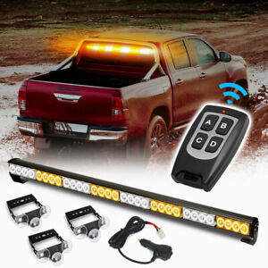 32 Led Amber White Hazard Emergency Warning Traffic Advisor Flash Strobe Light